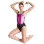 arena Drawing Swim Pro Back One Piece Badeanzug Damen black/freak rose