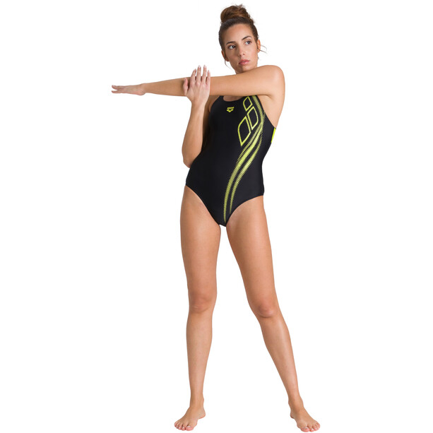 arena Spirit Swim Pro Back One Piece Badeanzug Damen black/soft green