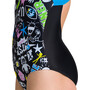 arena Playful Swim Pro Back One Piece Badeanzug Mädchen black/turquoise