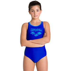 arena Spray Swim Pro Back One Piece Badeanzug Mädchen neon blue/turquoise neon blue/turquoise