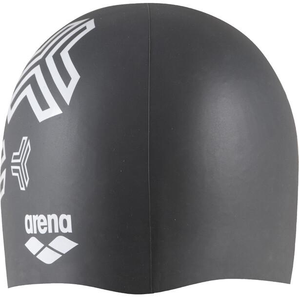 arena Reversible Badekappe schwarz/grau