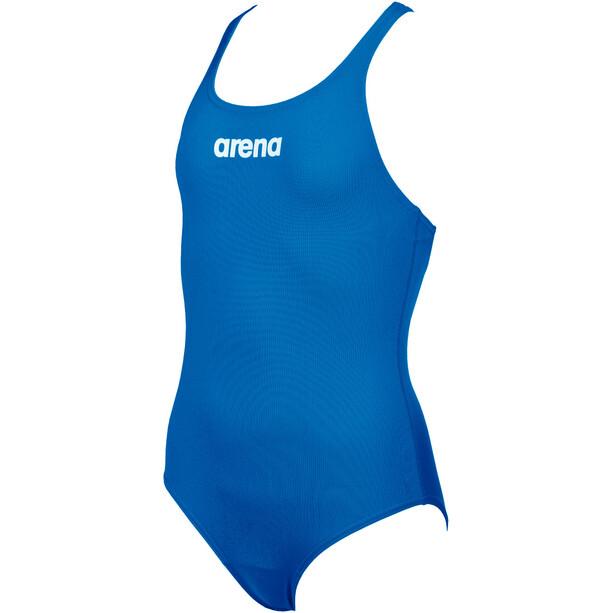 arena Solid Swim Pro One Piece Badeanzug Mädchen blau