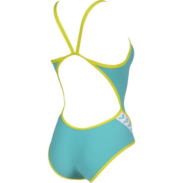 arena Team Stripe Super Fly Back Maillot de bain une pièce Femme, turquoise
