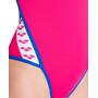 arena Team Stripe Super Fly Back One Piece Swimsuit Dam freak rose/royal