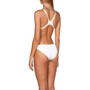 arena One Biglogo One Piece Badeanzug Damen white/gold