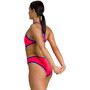 arena One Biglogo One Piece Badeanzug Damen fluo red/neon blue