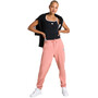 arena Team Fleece Hose Damen triple powder pink