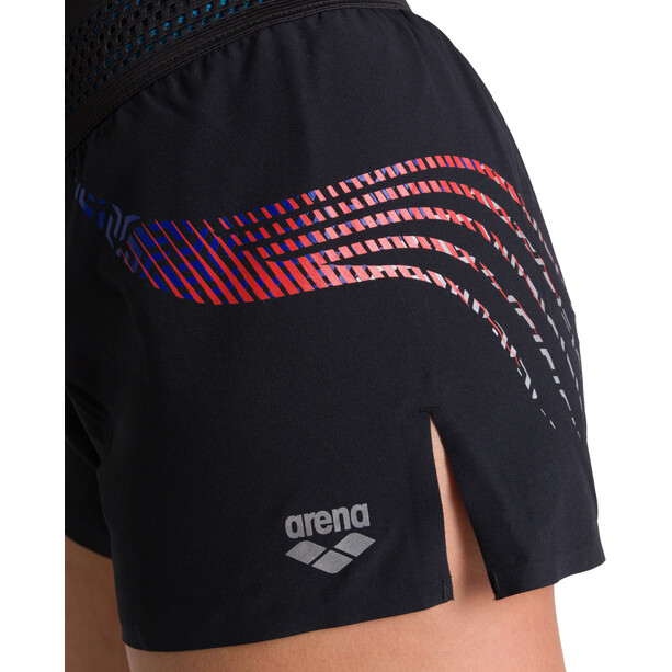 arena A-One Shorts Damen black/fluo red