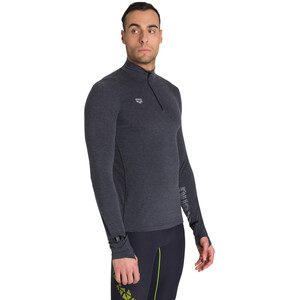 arena Thermal Half Zip Langarmshirt Herren black melange/lime soda black melange/lime soda
