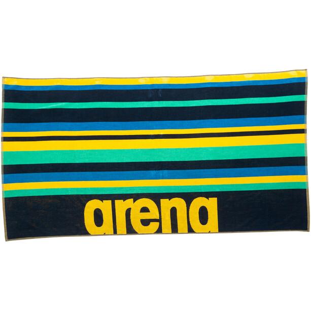 arena Beach Multistripes Handtuch navy/multi