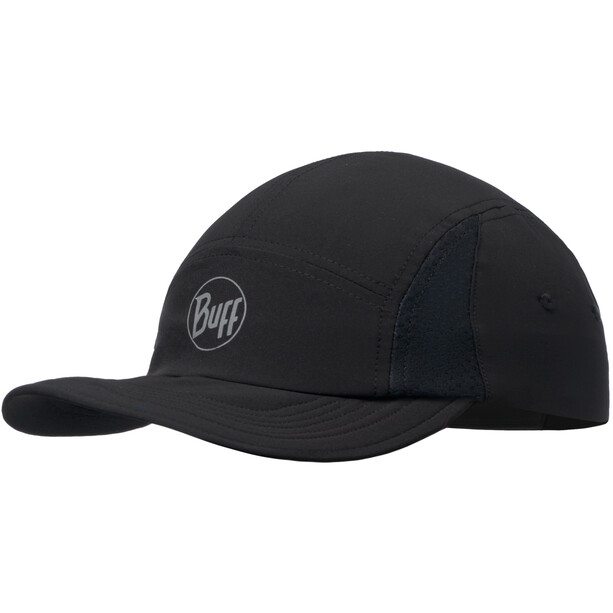 Buff Run Cap reflective solid black
