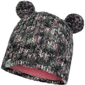 Buff Lera Strick & Vollfleece Mütze Kinder grau grau
