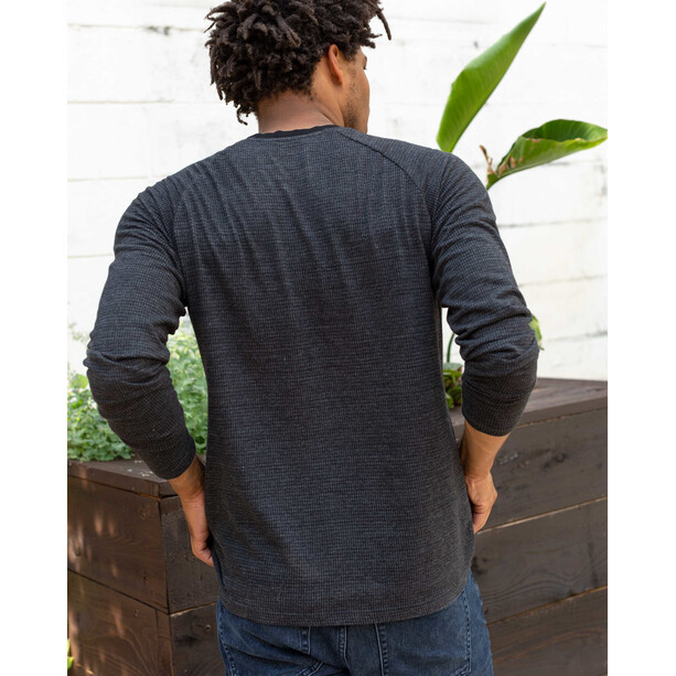 United By Blue Thermal Henley Oberteil Herren black