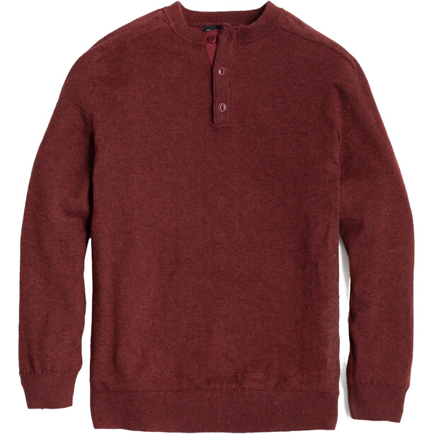 United By Blue Merino Blend Henley Sweater Men plum