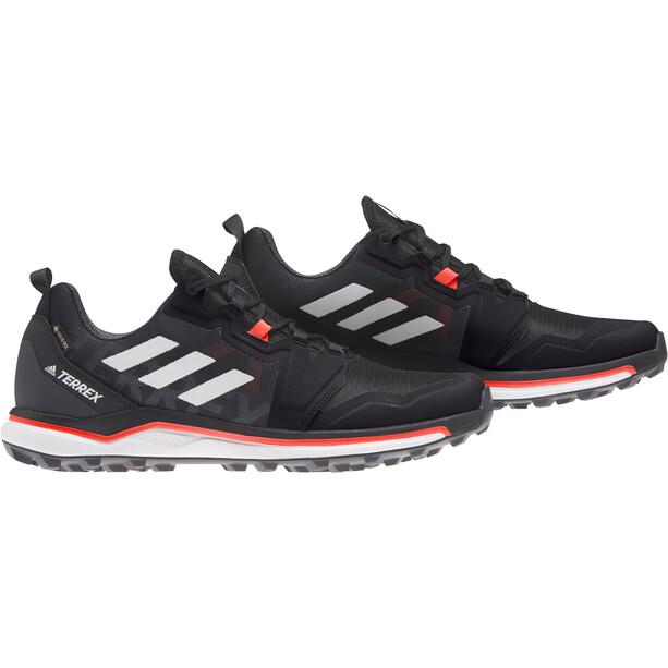 adidas TERREX Agravic GTX Laufschuhe Herren core black/crystal white/solar red