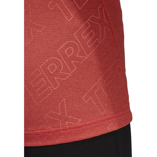 adidas TERREX Tracero 1/2 Langarm Oberteil Damen hi res red