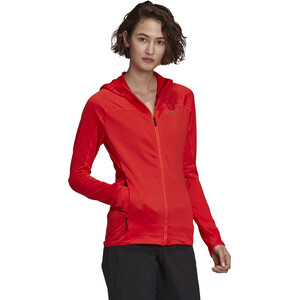 adidas TERREX TraceRo Fl Kapuzen Sweatjacke Damen hi res red hi res red