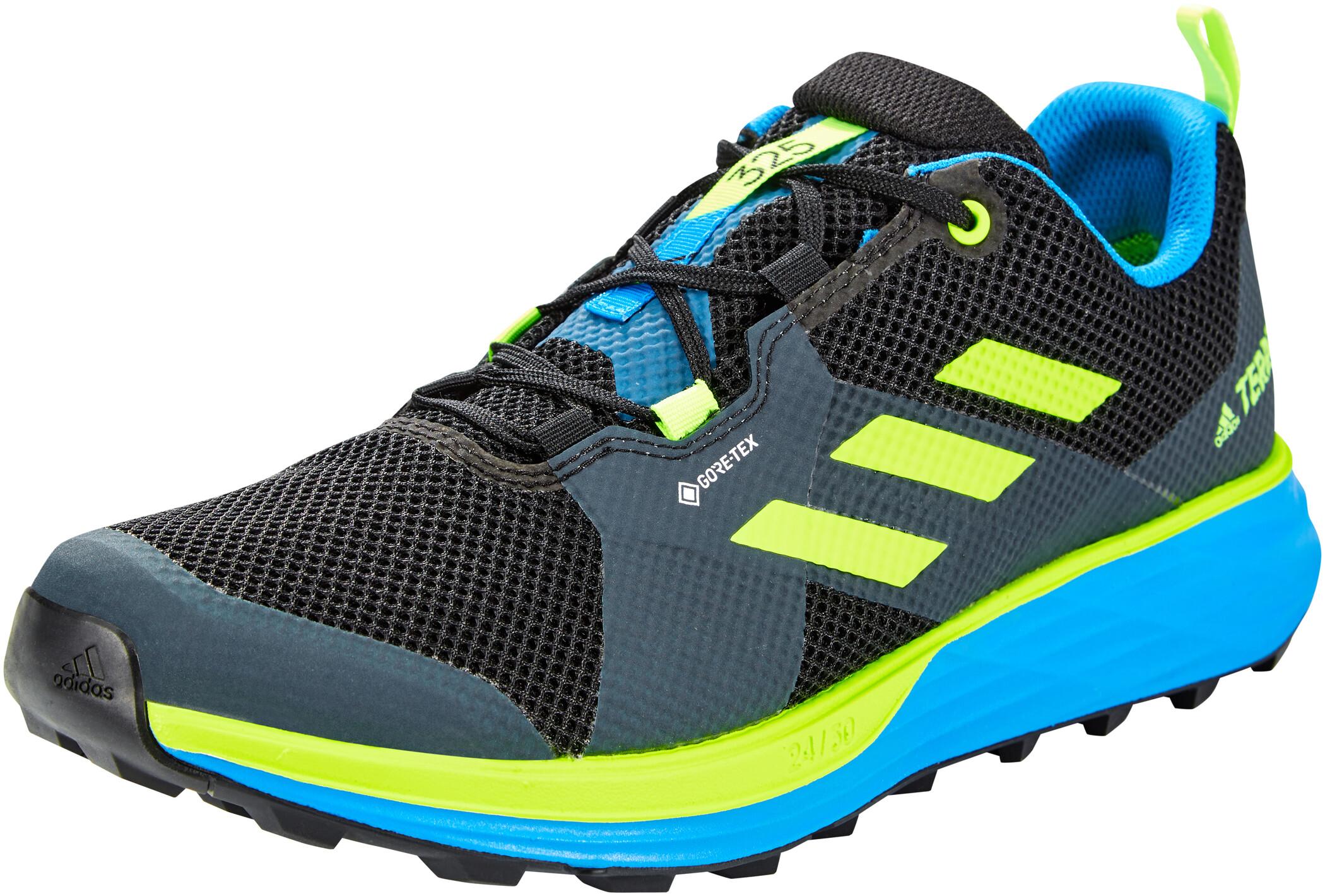 adidas TERREX Two Gore Tex Trail Running Schuhe Herren core blacksignal greenbrblue