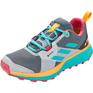 adidas TERREX Two Gore-Tex Trail Running Schuhe Damen legmar blue/hi res aqua/gold legmar blue/hi res aqua/gold