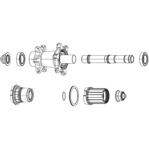 Zipp Freilauf-Kit für ZR1 XDR schwarz