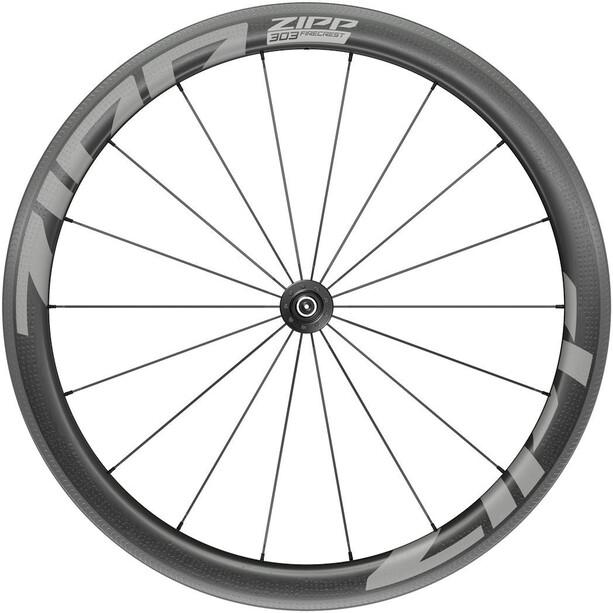"""Zipp 303 Firecrest Front Wheel 28"""" 100mm Carbon Clincher Tubeless QR svart"""