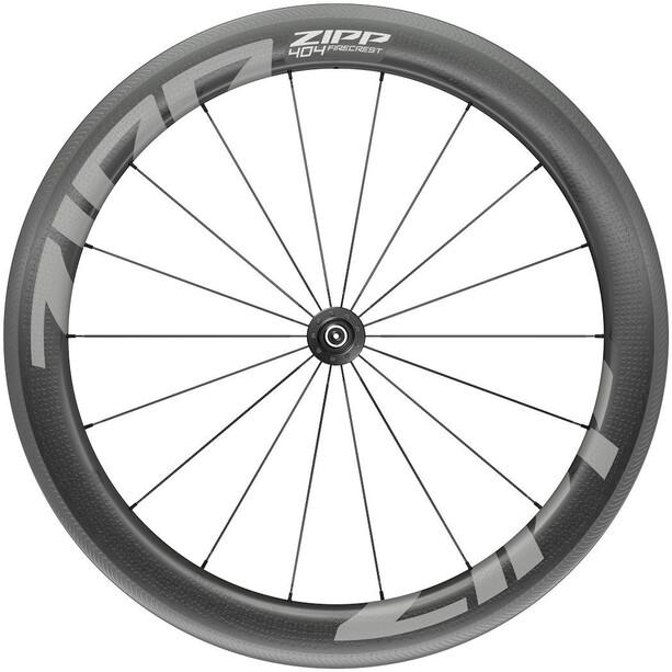 """Zipp 404 Firecrest Front Wheel 28"""" 100mm Carbon Clincher Tubeless QR svart"""