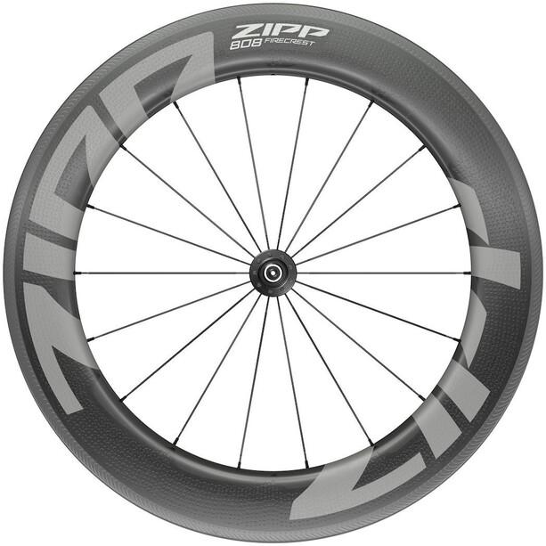 """Zipp 808 Firecrest Front Wheel 28"""" 100mm Carbon Clincher Tubeless QR black"""