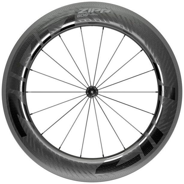 "Zipp 808 NSW Vorderrad 28"" 100mm Carbon Drahtreifen Tubeless QR black"
