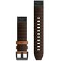Garmin QuickFit Bracelet de montre en cuir 22mm pour Fenix 6, marron