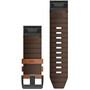 Garmin QuickFit Leder Uhrenband 26mm für Fenix 6X brown