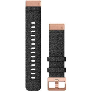 Garmin QuickFit Bracelet de montre en nylon 20mm pour Fenix 6S, black/rose gold black/rose gold