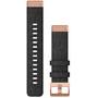 Garmin QuickFit Nylon Uhrenband 20mm für Fenix 6S schwarz/gold