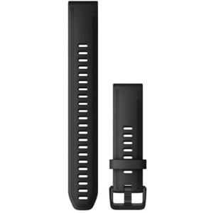 Garmin QuickFit Silicone Watch Band XL 20mm for Fenix 6S black black