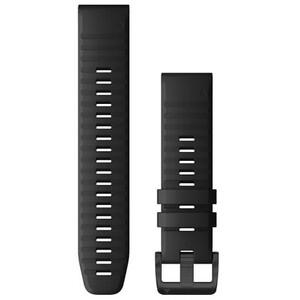 Garmin QuickFit Silikon Uhrenband 22mm für Fenix 6 schwarz schwarz