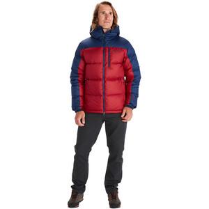 Marmot Guides Daunen-Kapuzenjacke Herren brick/arctic navy brick/arctic navy