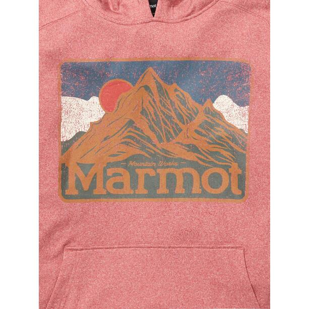 Marmot Mountain Peaks Hoodie Herren rot