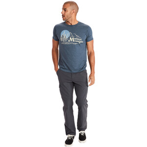 Marmot Redpoint T-Shirt Kurzarm Herren navy heather navy heather