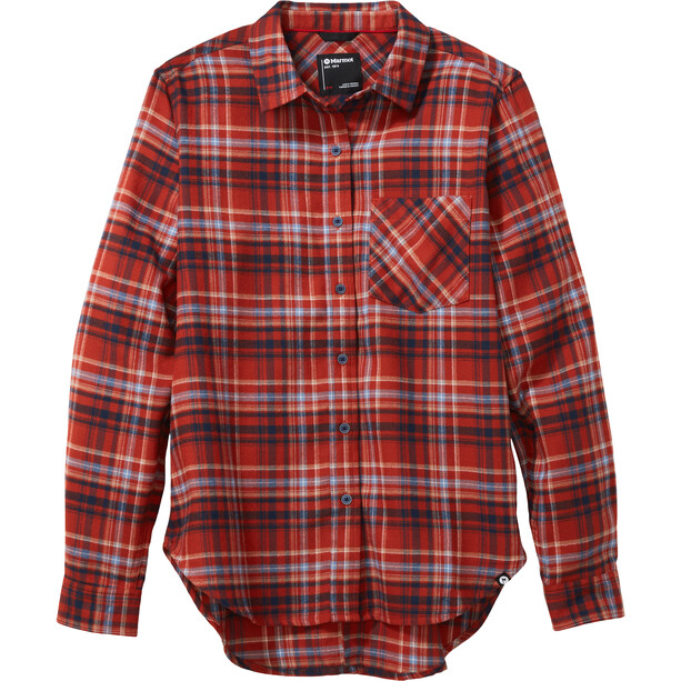 Marmot Maggie Midweight Flanell Langarmhemd Damen picante