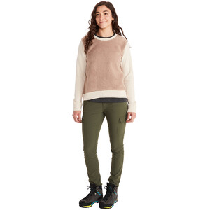Marmot Crew Neck Sherpa Sweatshirt Damen papyrus heather/sea salt papyrus heather/sea salt