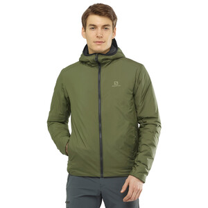 Salomon Outrack Insulated Hoodie Herren olive night olive night
