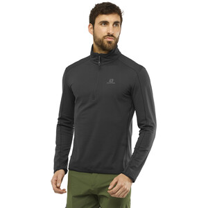 Salomon Outrack Half Zip Mid Shirt Herren black black