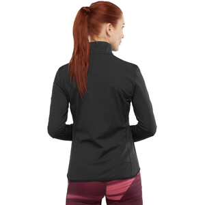 Salomon Outrack Half Zip Shirt Damen black black