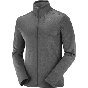 Salomon Transition Full Zip Mid Jacke Herren black/heather black/heather