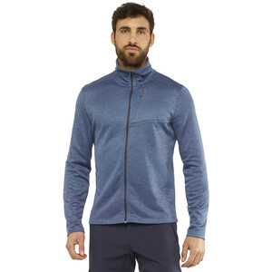 Salomon Transition Full Zip Mid Jacke Herren night sky/heather night sky/heather