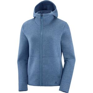 Salomon Sight Full Zip Jacke Damen copen blue/dark denim/heather copen blue/dark denim/heather