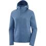 Salomon Sight Full Zip Jacke Damen copen blue/dark denim/heather