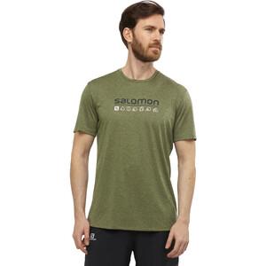 Salomon Agile Graphic Kurzarm T-Shirt Herren olive night/martini olive/heather olive night/martini olive/heather