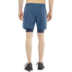 Salomon Agile Twinskin Shorts Herren dark denim dark denim