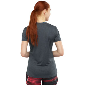 Salomon Agile Kurzarm T-Shirt Damen ebony/black/heather ebony/black/heather