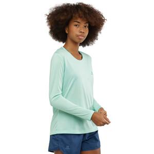 Salomon Agile Langarm T-Shirt Damen icy morn/wht/heather icy morn/wht/heather